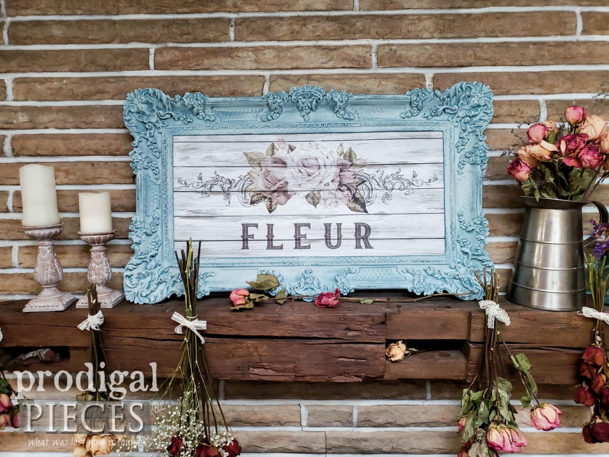 Shabby Chic Wall Art With French Graphic Prodigal Pieces