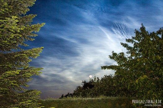 bright night clouds