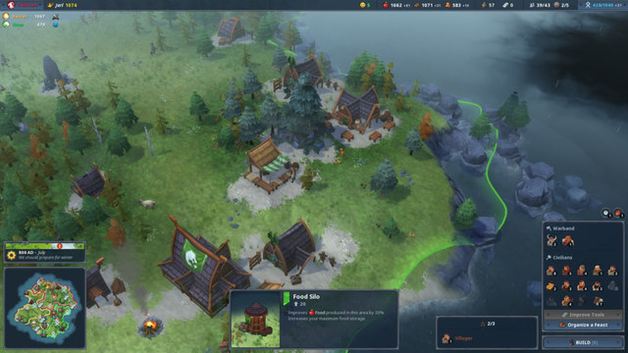 Northgard Cheat Gives Unlimited Food Wood Money And More