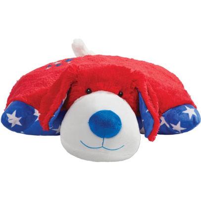 pillow pets americana red puppy stuffed animal plush toy