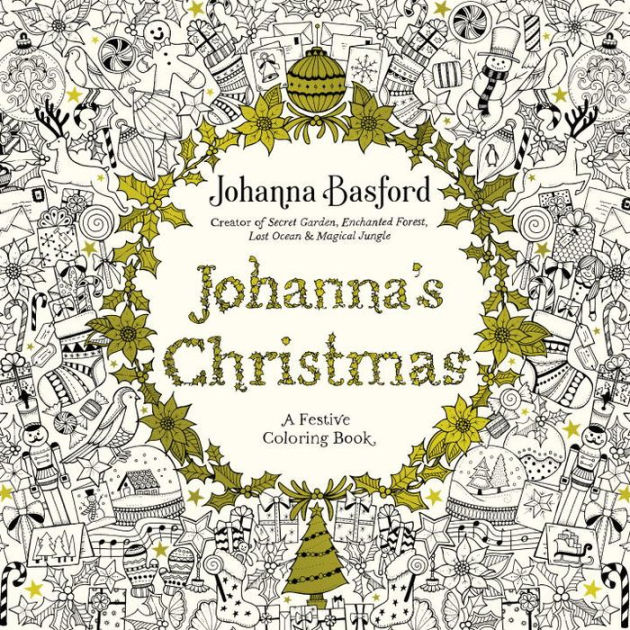 Johannas Christmas A Festive Coloring Book For Adults By