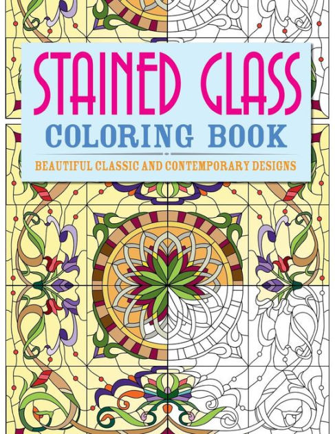 Stained Glass Coloring Book Beautiful Classic And