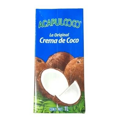 crema de coco acapulcoco 1l