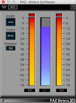 Diferencia entre nivel Pico y RMS en Audio