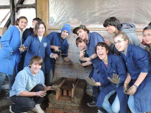 Estudiantes de la EPET 21 en acción-aprendizaje