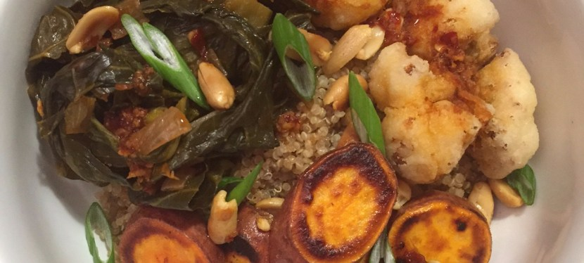 Sweet Potato, Quinoa and Collard Green Grain Bowl