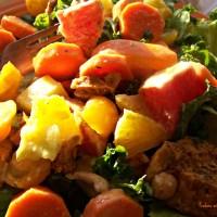 Sunshine Salad in a Jar with Kicky Mango Vinaigrette