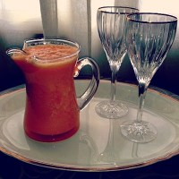 Blended Carrot, Orange, and Ginger Juice