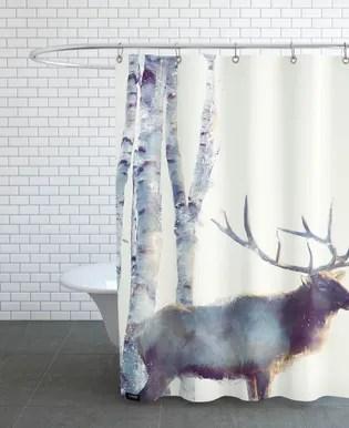 little moose shower curtain