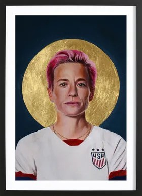 football icon megan rapinoe poster