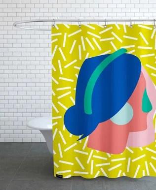 prince jaguar in papaya palace shower curtain