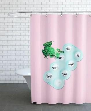 surfing otter shower curtain