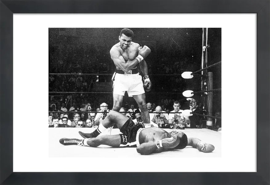 muhammad ali rematch with sonny liston 1965 photograph poster
