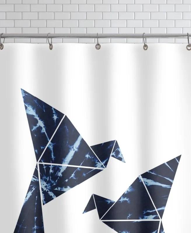 batik vogel shower curtain