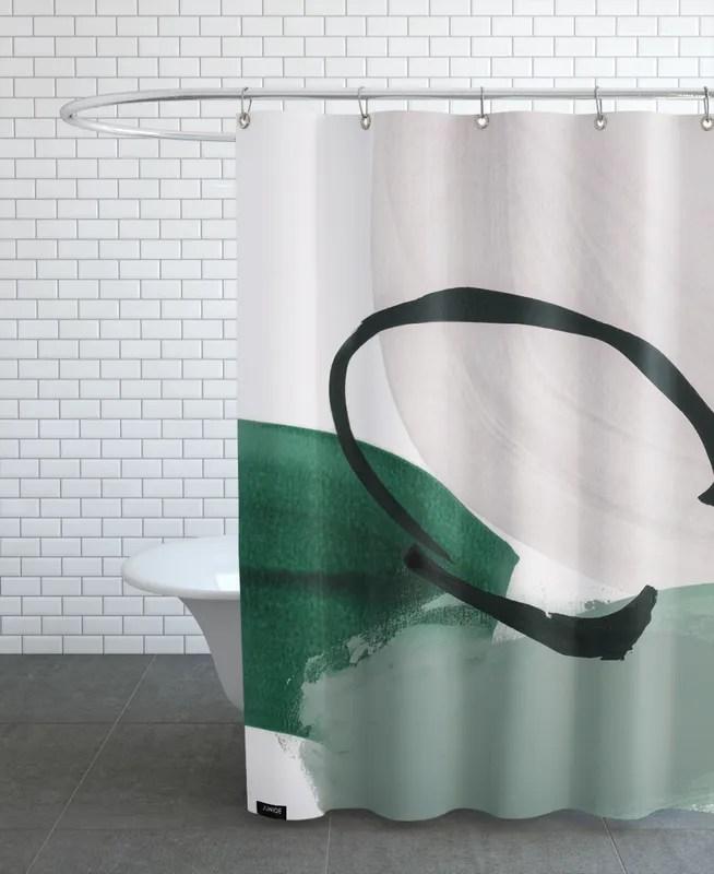 minimalist painting 01 shower curtain