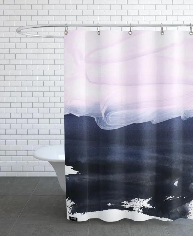 pink blue shower curtain