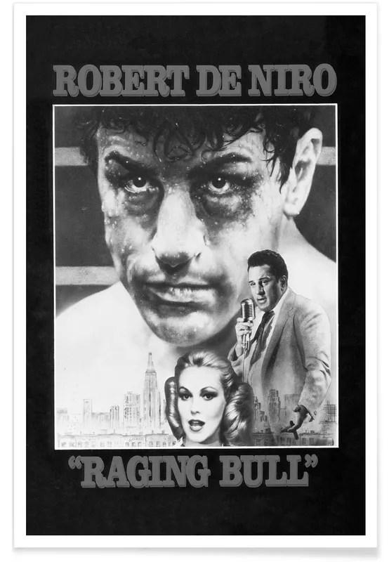 raging bull retro movie poster