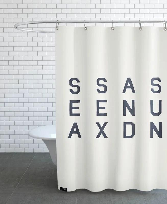 sea sex and sun shower curtain