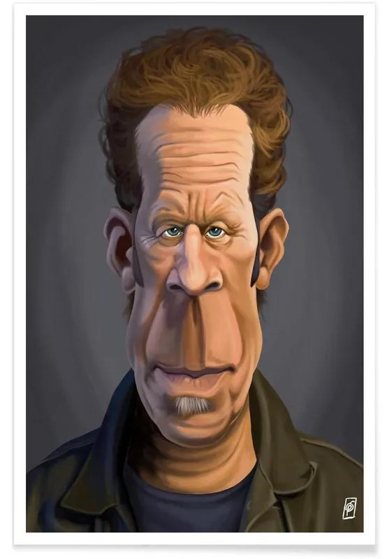 tom waits caricature poster