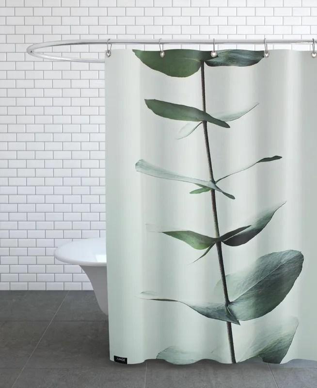 eucalyptus green shower curtain