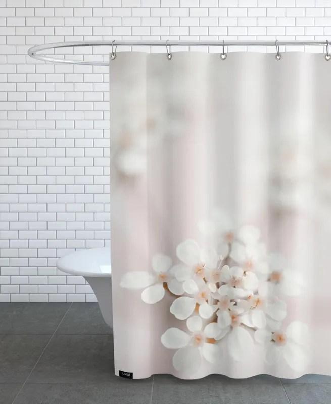 pastel flower queen ann lace shower curtain