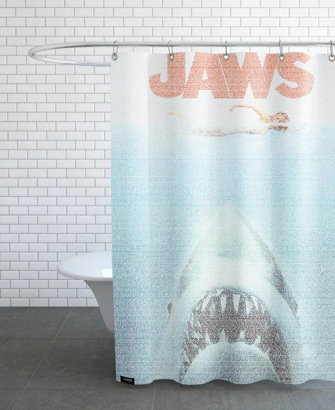 jaws shower curtain
