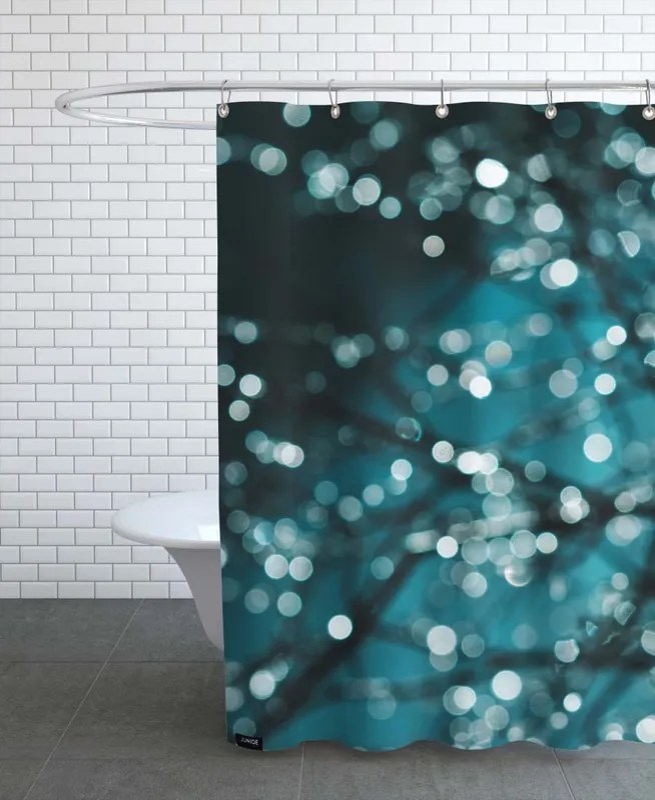 midnight sparkle shower curtain