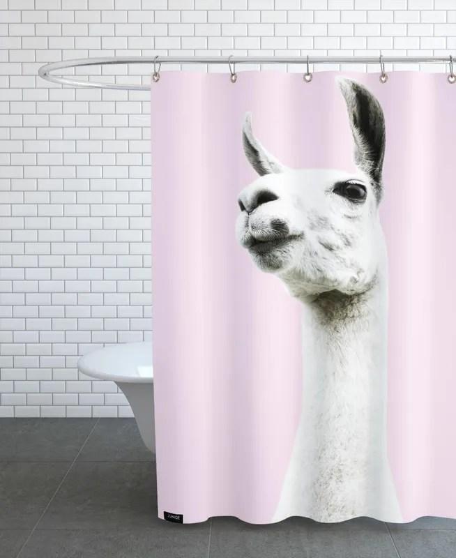 https www juniqe com pink llama shower curtain sc01 3576797 html