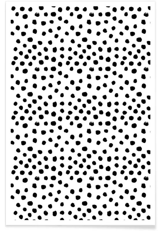 dots black and white poster