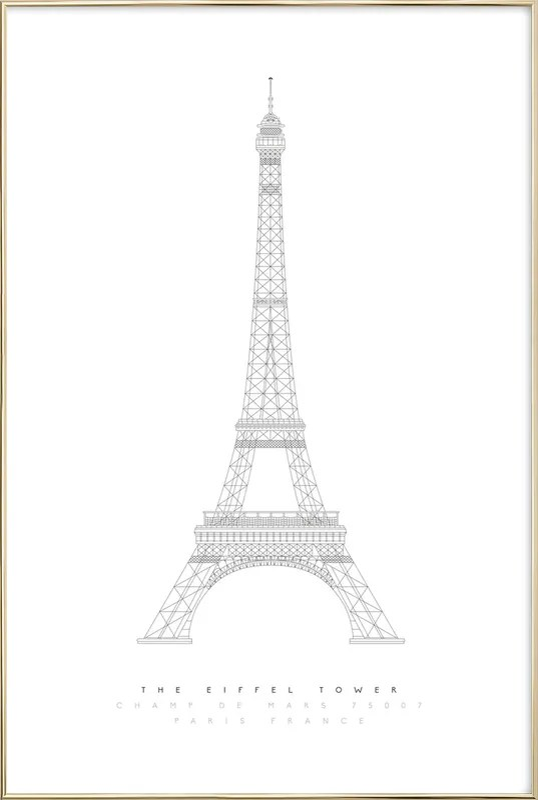 the eiffel tower blueprint poster