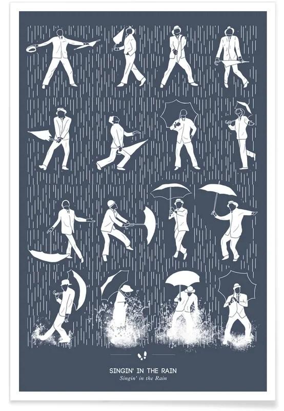 singin in the rain dance poster