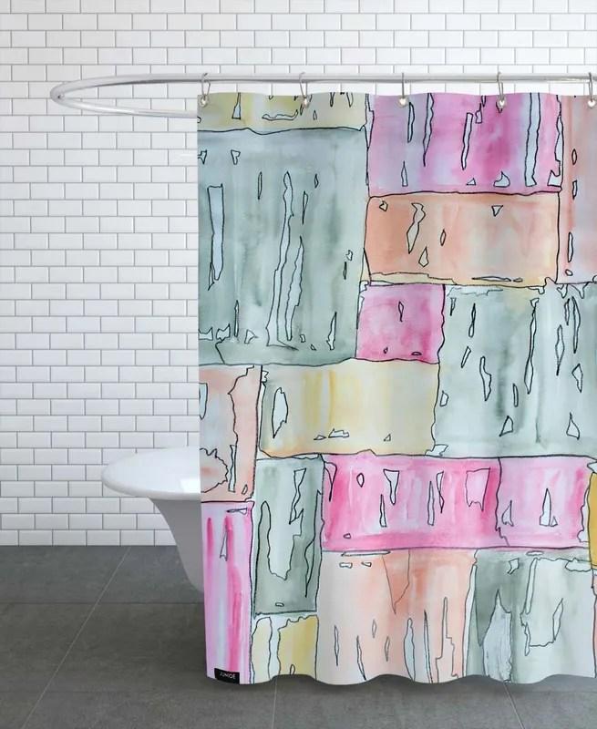 colour code pastel shower curtain