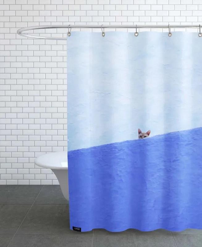 spy cat shower curtain