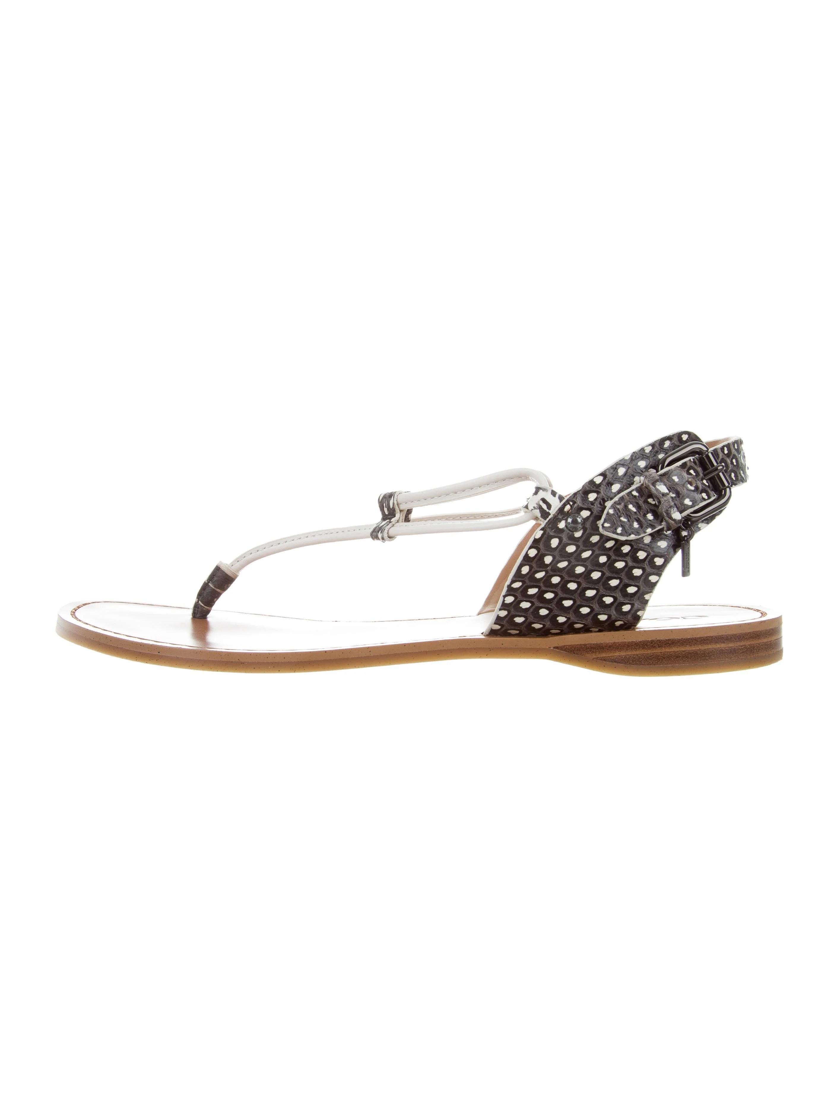 Coach Snakeskin Thong Sandals