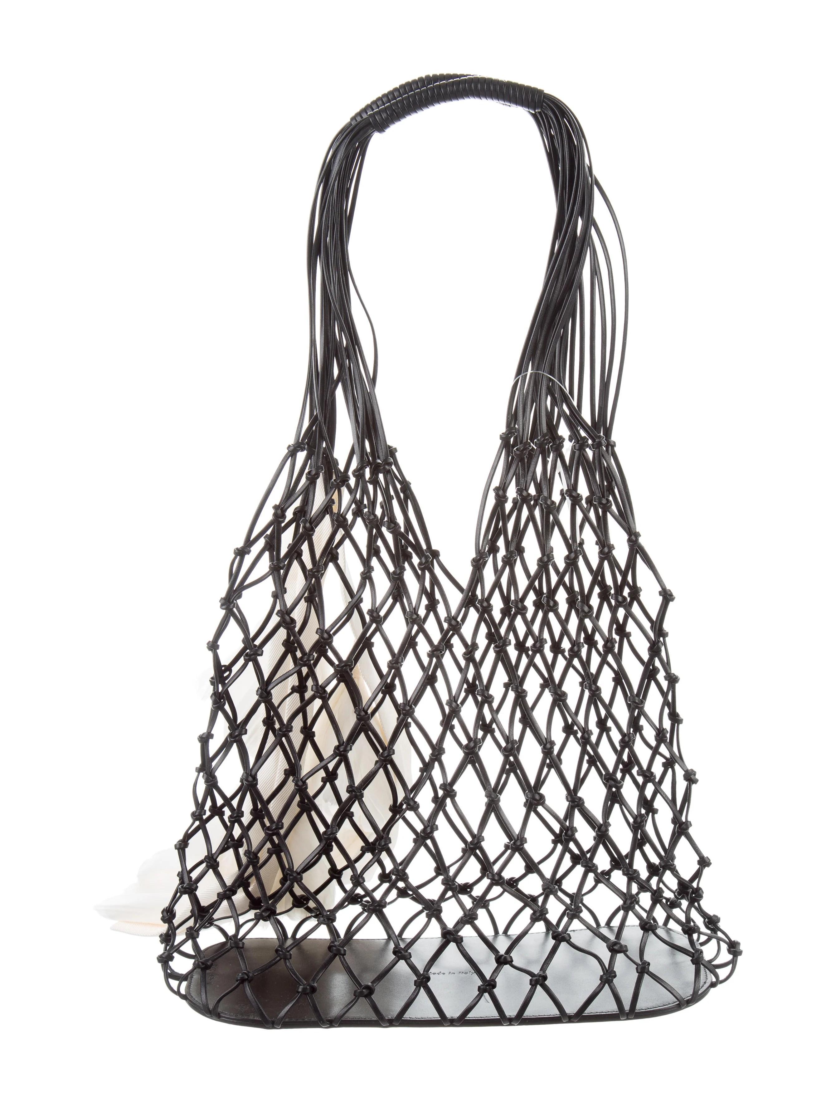 Celine Leather Net Bag