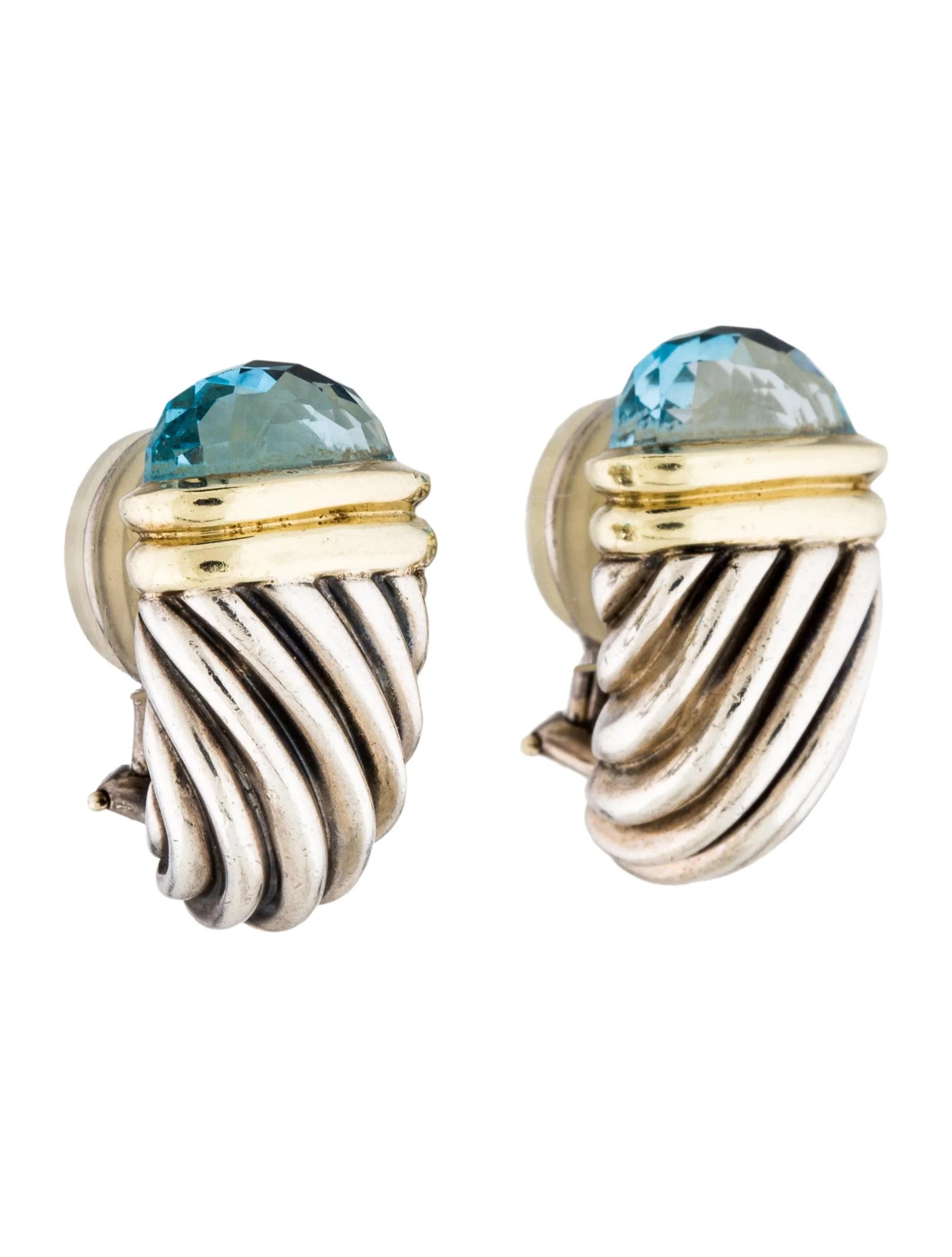 David Yurman Topaz Shrimp Earclip Earrings Earrings