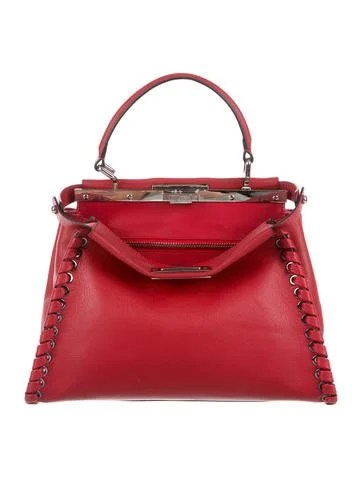 Fendi Medium Whipstitched Peekaboo Bag