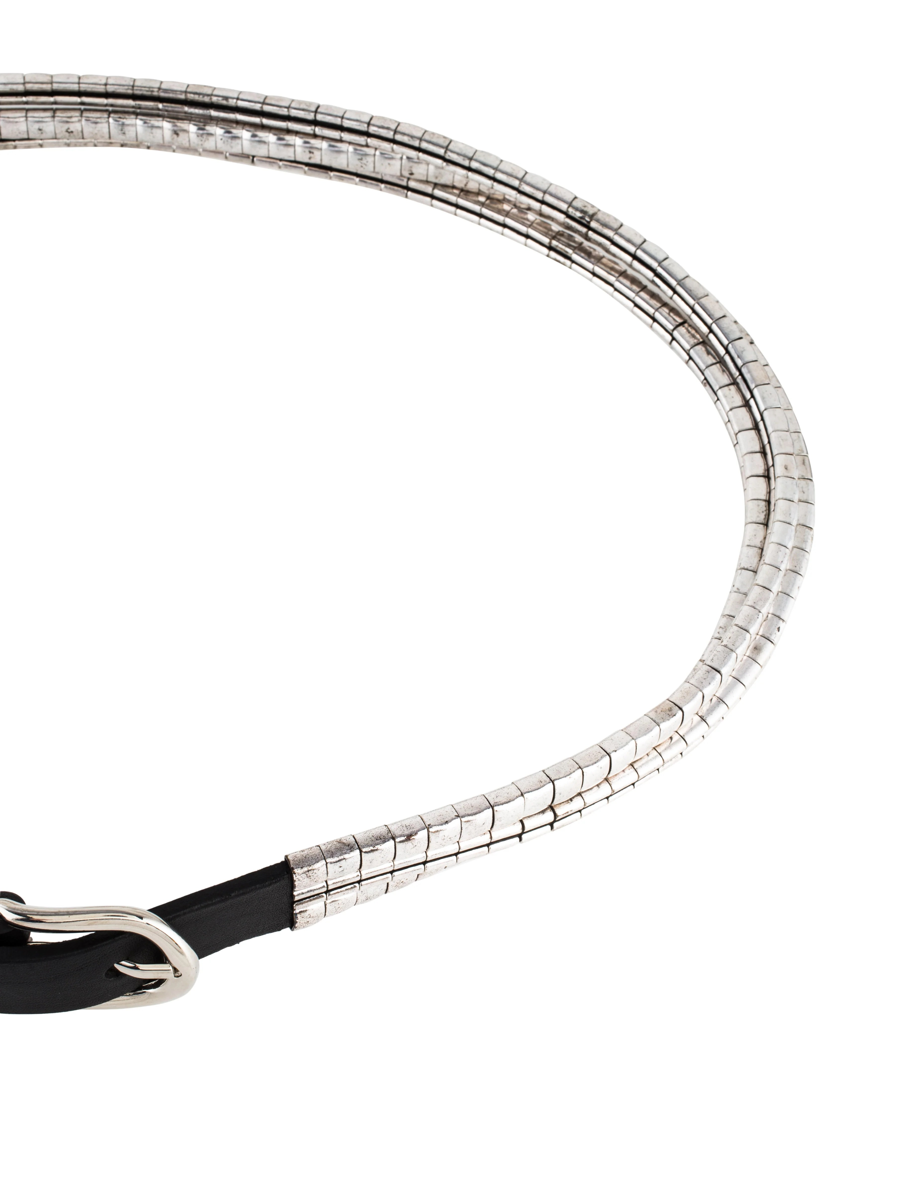 Isabel Marant Leather Chain Link Belt