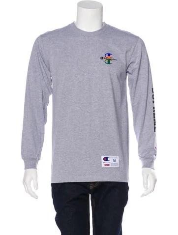 Supreme x Champion Logo Print Crew Neck T-Shirt w/ Tags