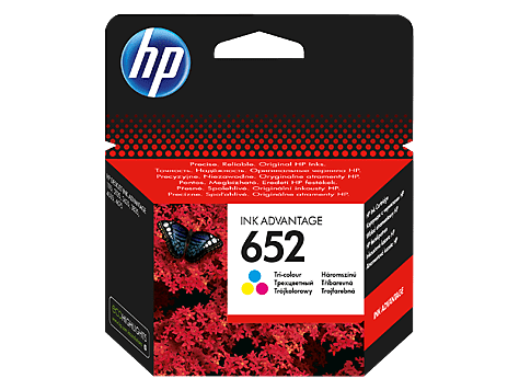 Hp 652 Tri Color Original Ink Advantage Cartridge F6v24ae
