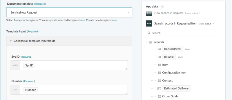 Message Templates - Mapping datapills to template