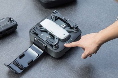Charge your DJI Spark whilst outdoors.