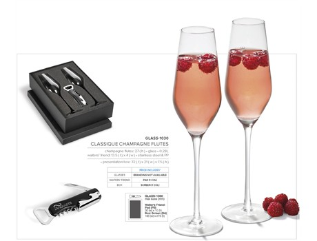 Classique Champagne Flutes  CODE:GLASS-1030