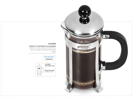 Venti Coffee Plunger  CODE: LS-6300