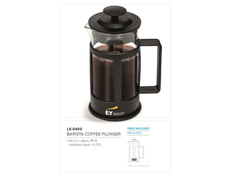 Barista Coffee Plunger - 350ml  CODE: LS-6400