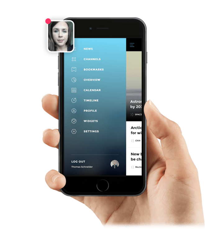 Invision iPhone App Recording User Reactions