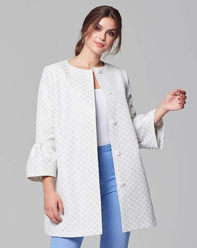Fashion World Helene Berman Trumpet Sleeve Coat