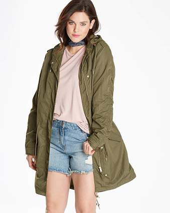 Fashion World Lightweight Premium Parka KHAKI