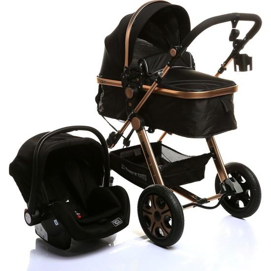 Baby&Plus Canyon Travel Sistem V2 Bebek Arabası Puset Siyah