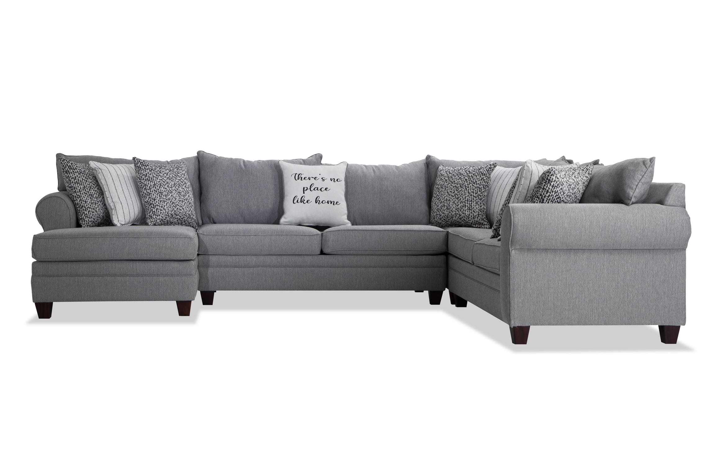 laurel gray 4 piece right arm facing sectional